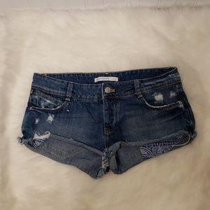 Zara Button fly Denim Shorts